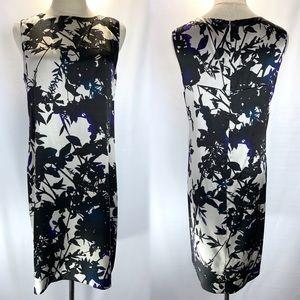 Theory Cannelia Sleeveless Shift Dress. 100% silk